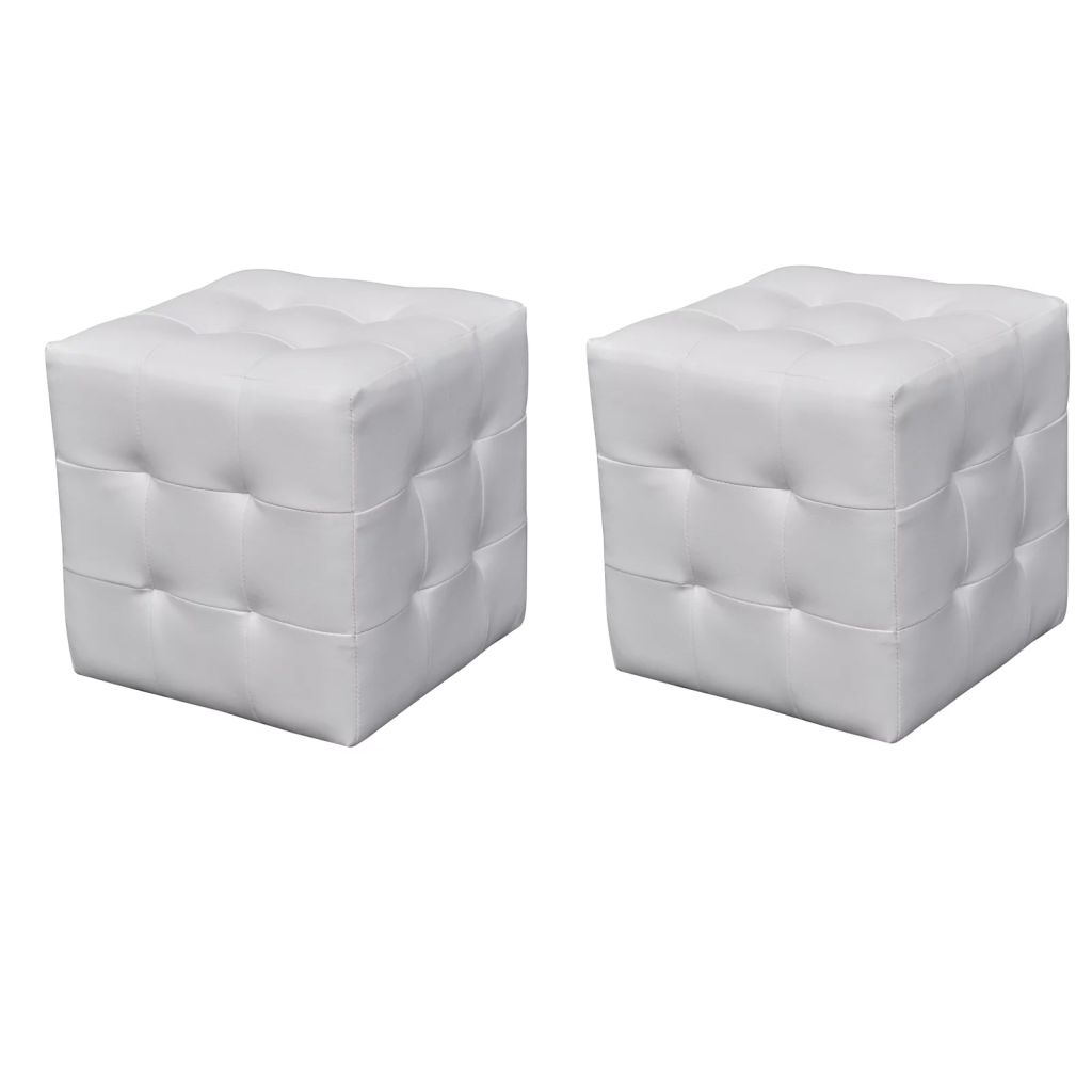 2 x Cubed stool white 1