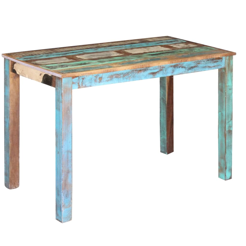 Dining Table Solid Reclaimed Wood 115x60x76 cm 1