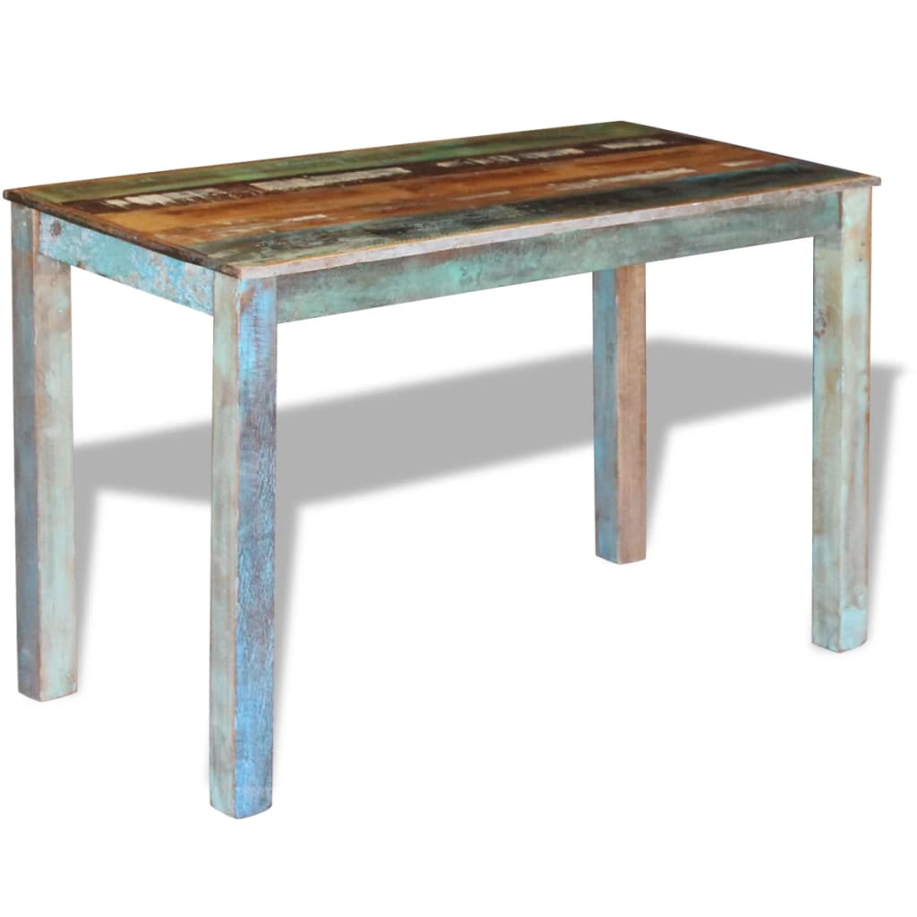 Dining Table Solid Reclaimed Wood 115x60x76 cm 4