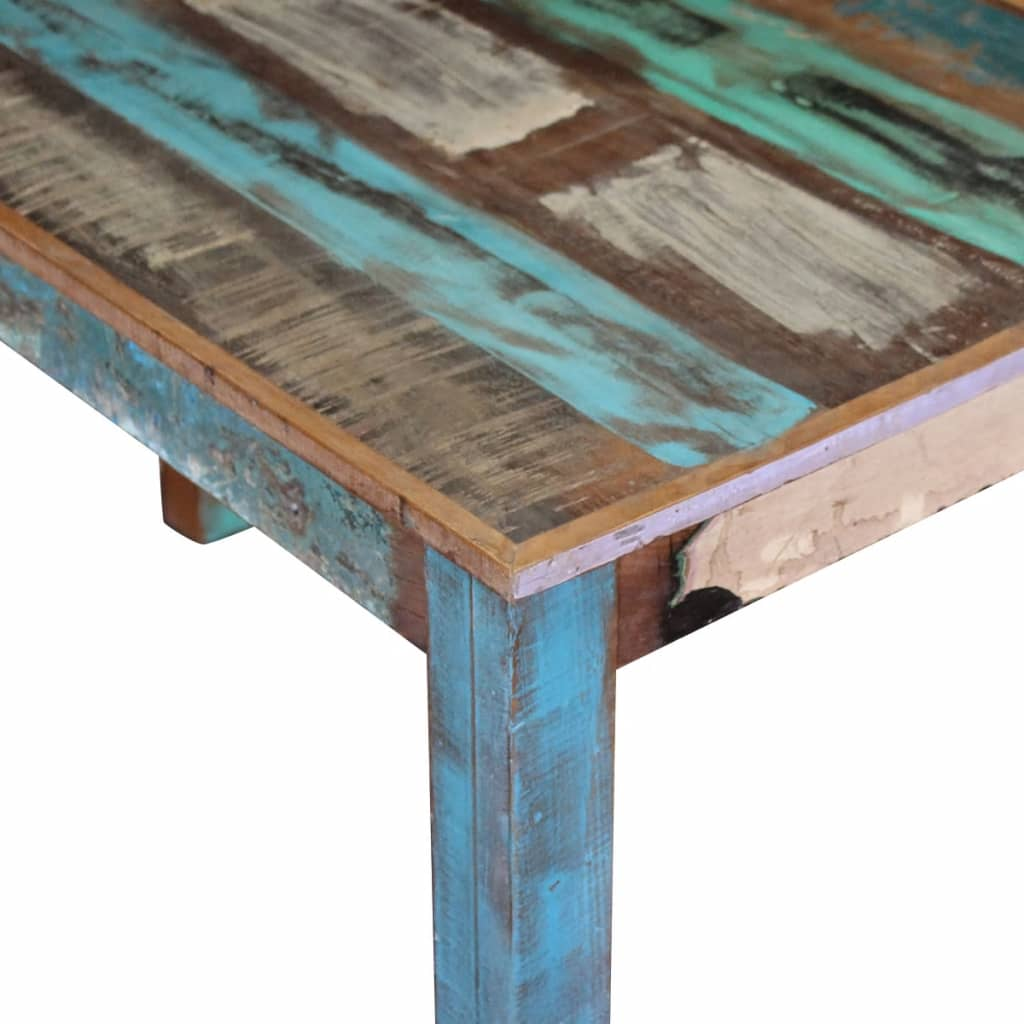 Dining Table Solid Reclaimed Wood 115x60x76 cm 7