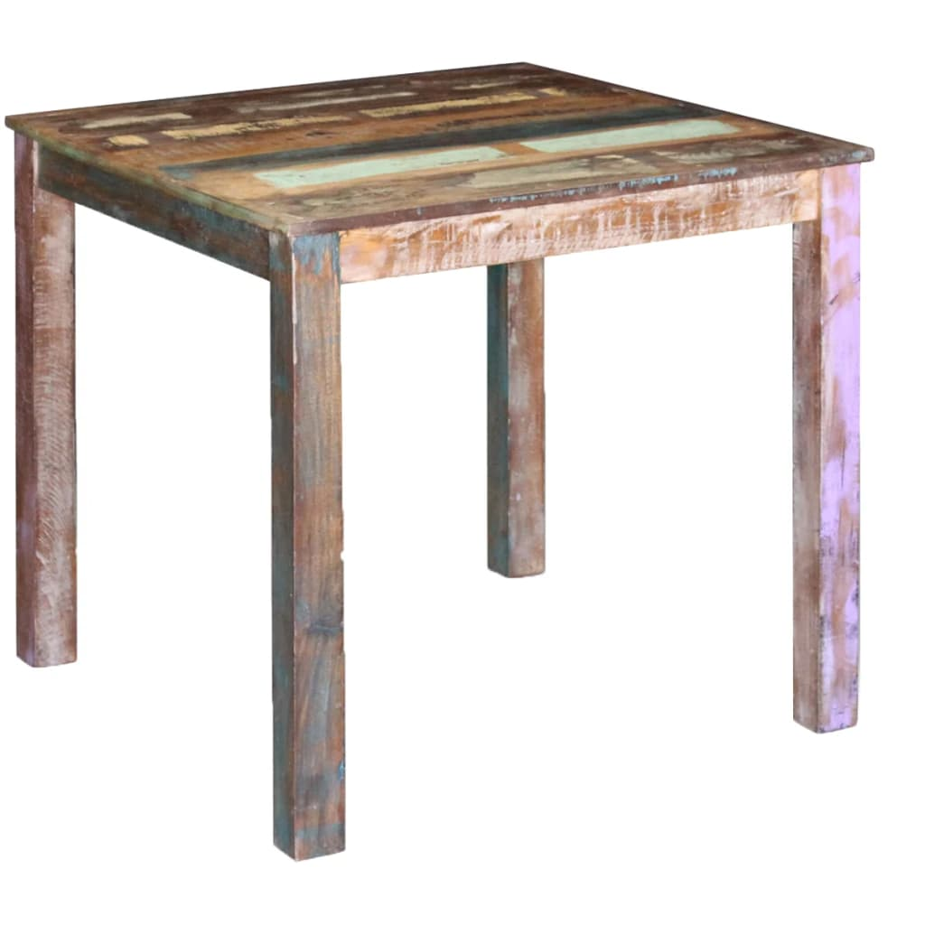 Dining Table Solid Reclaimed Wood 80x82x76 cm 1