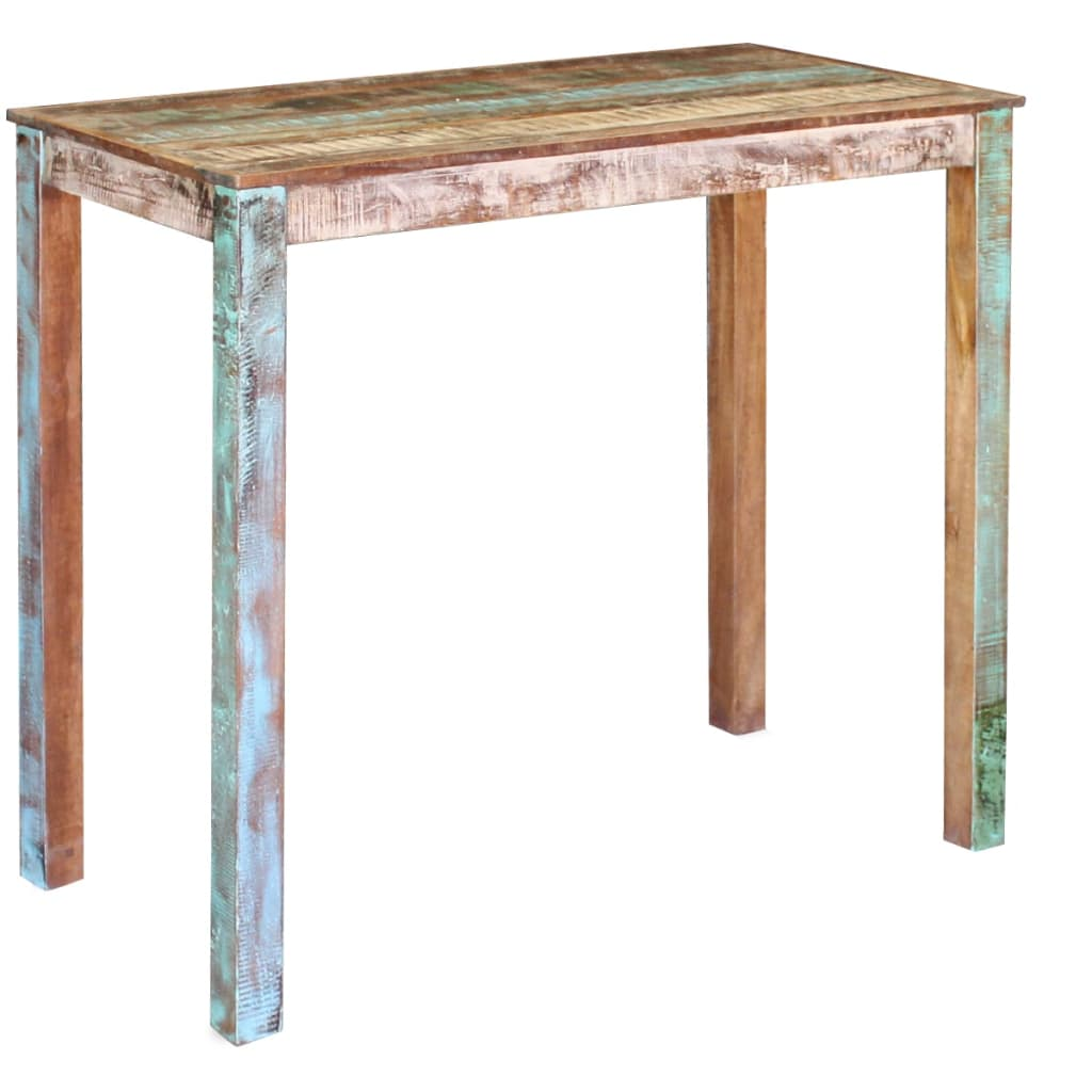 Bar Table Solid Reclaimed Wood 115x60x107 cm 1