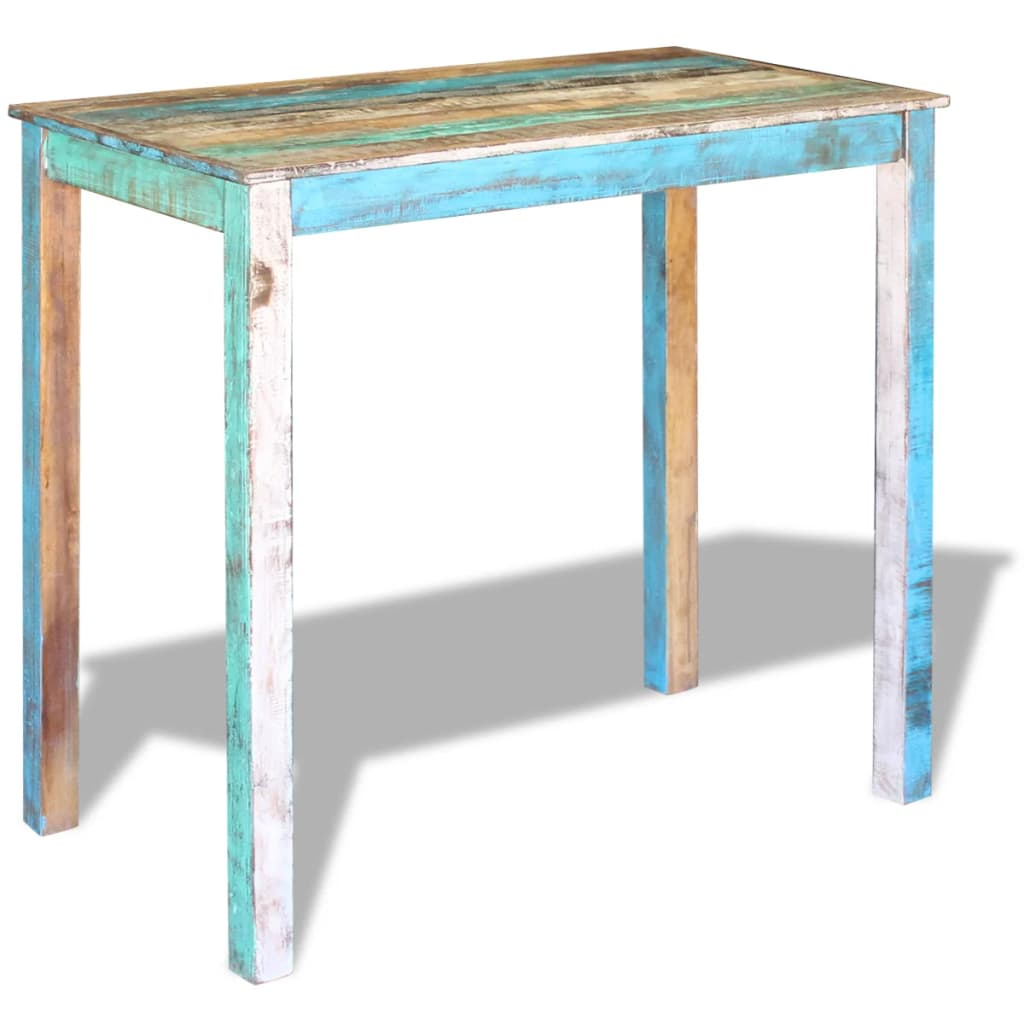 Bar Table Solid Reclaimed Wood 115x60x107 cm 2