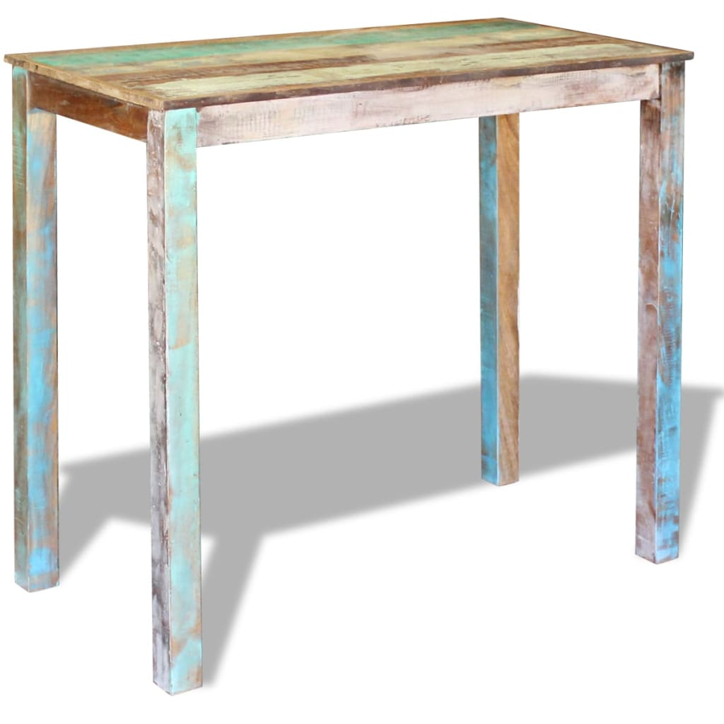 Bar Table Solid Reclaimed Wood 115x60x107 cm 3