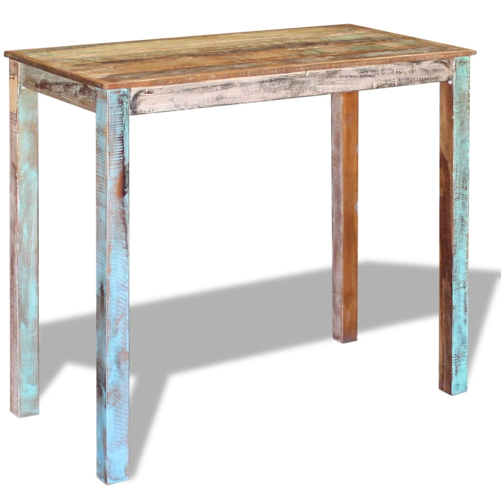 Bar Table Solid Reclaimed Wood 115x60x107 cm 4