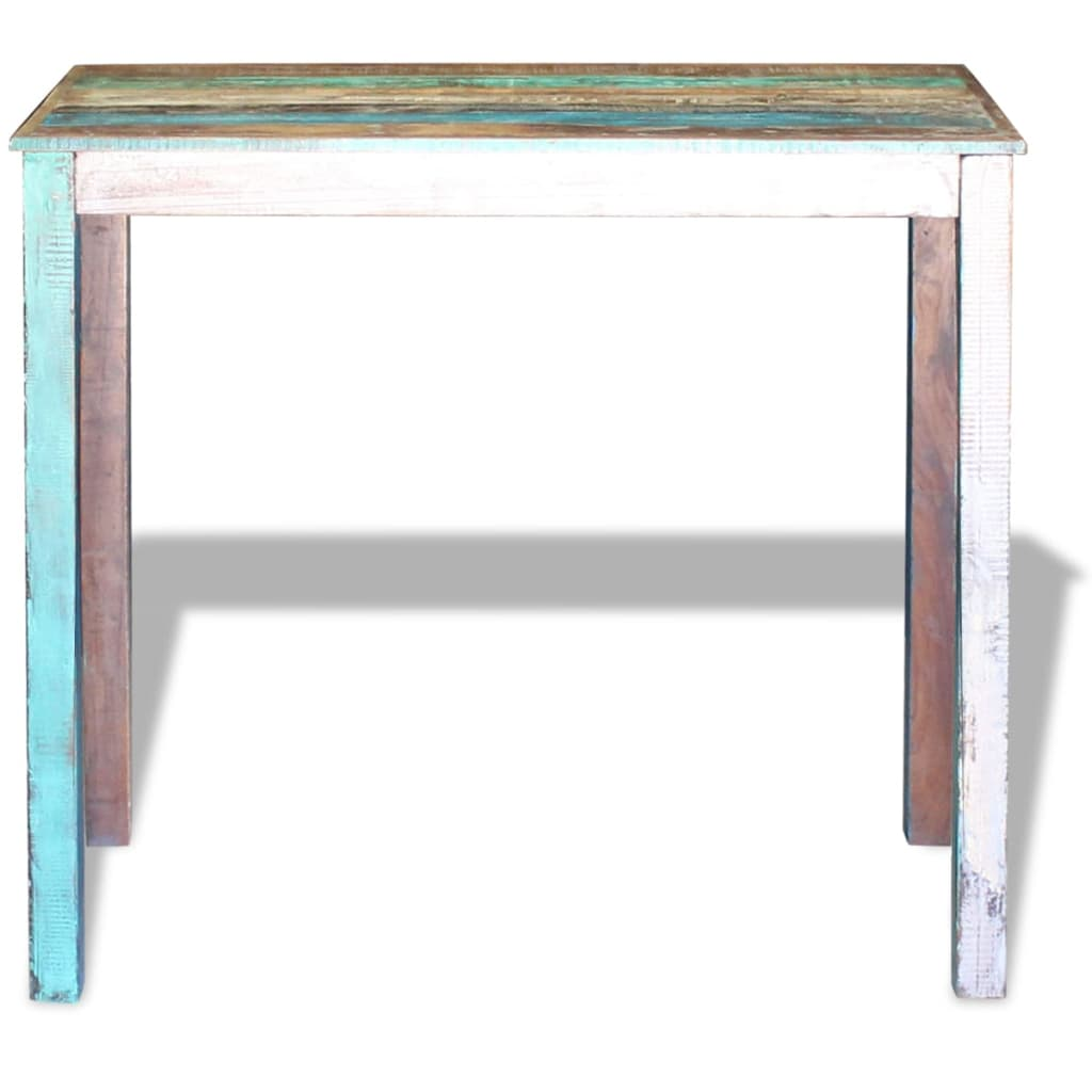 Bar Table Solid Reclaimed Wood 115x60x107 cm 6