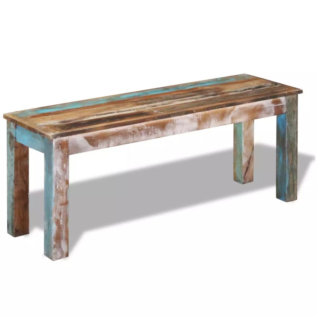 Bench Solid Reclaimed Wood 110x35x45 cm 1