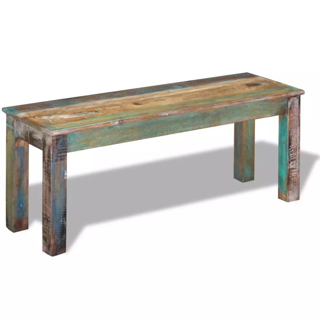 Bench Solid Reclaimed Wood 110x35x45 cm 2