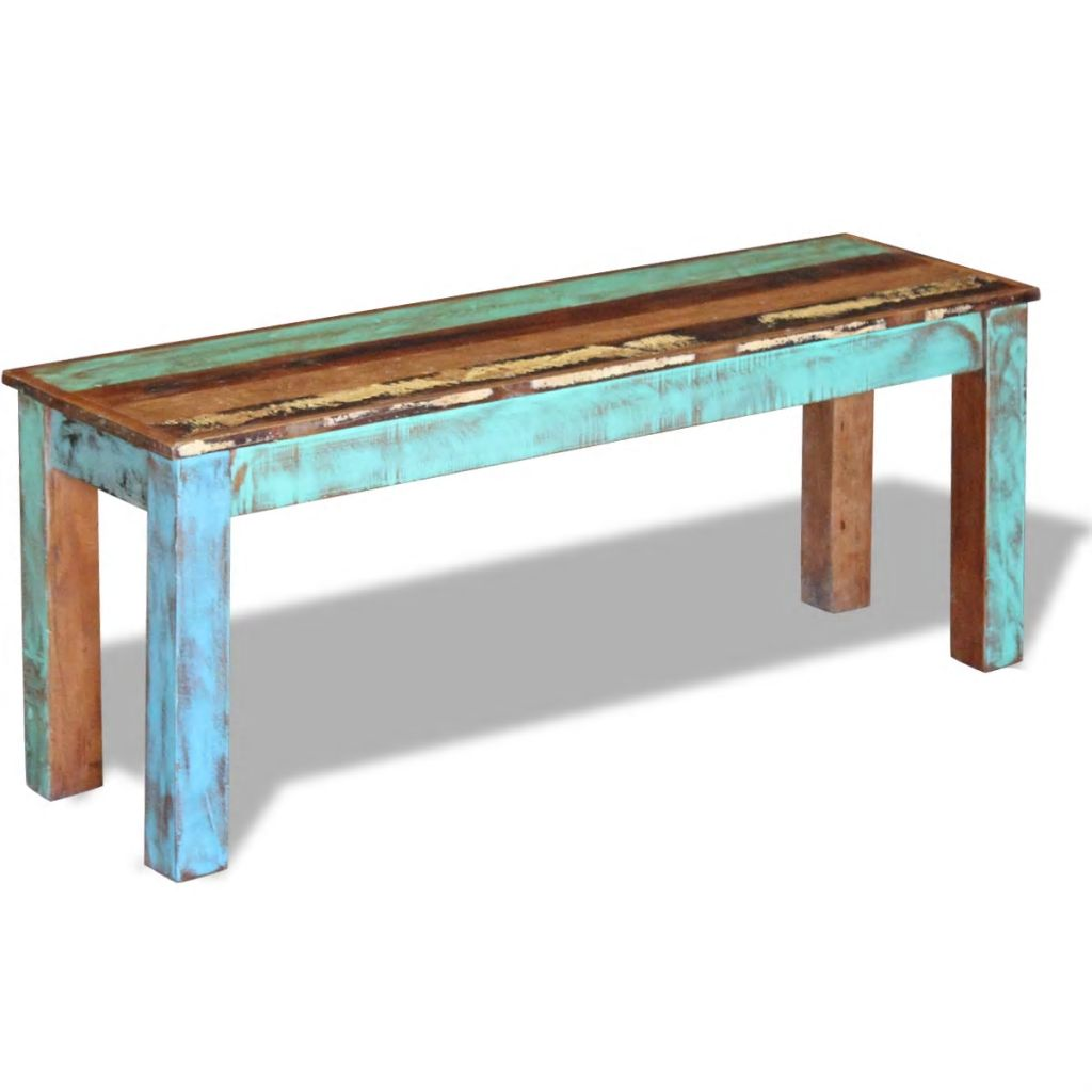 Bench Solid Reclaimed Wood 110x35x45 cm 5