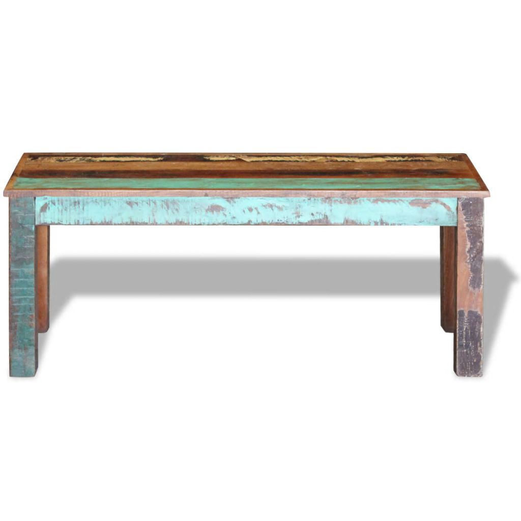 Bench Solid Reclaimed Wood 110x35x45 cm 6