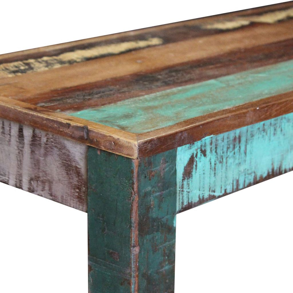 Bench Solid Reclaimed Wood 110x35x45 cm 7
