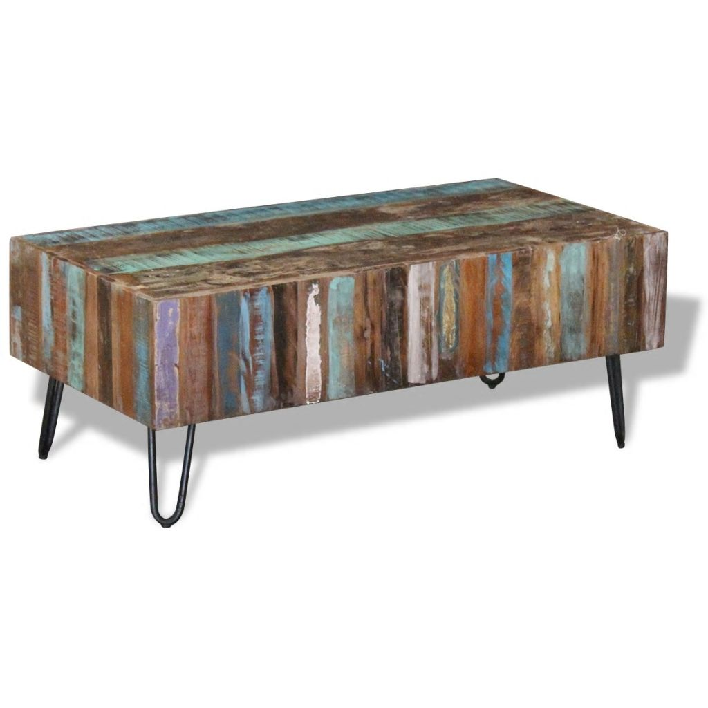 Coffee Table Solid Reclaimed Wood 100x50x38 cm 5