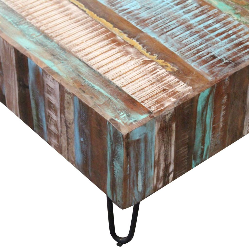Coffee Table Solid Reclaimed Wood 100x50x38 cm 7