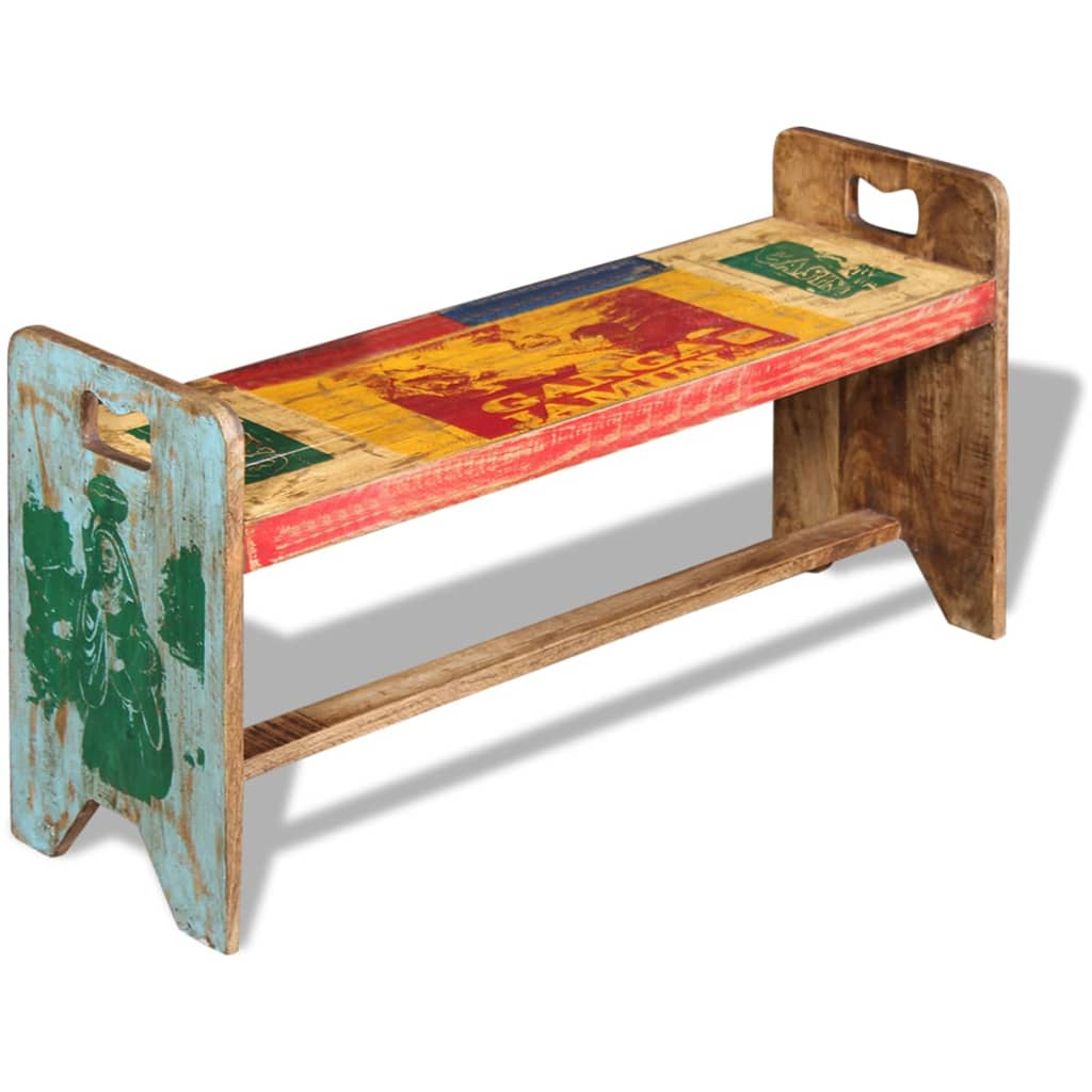 Cola Bench Solid Reclaimed Wood 100x30x50 cm