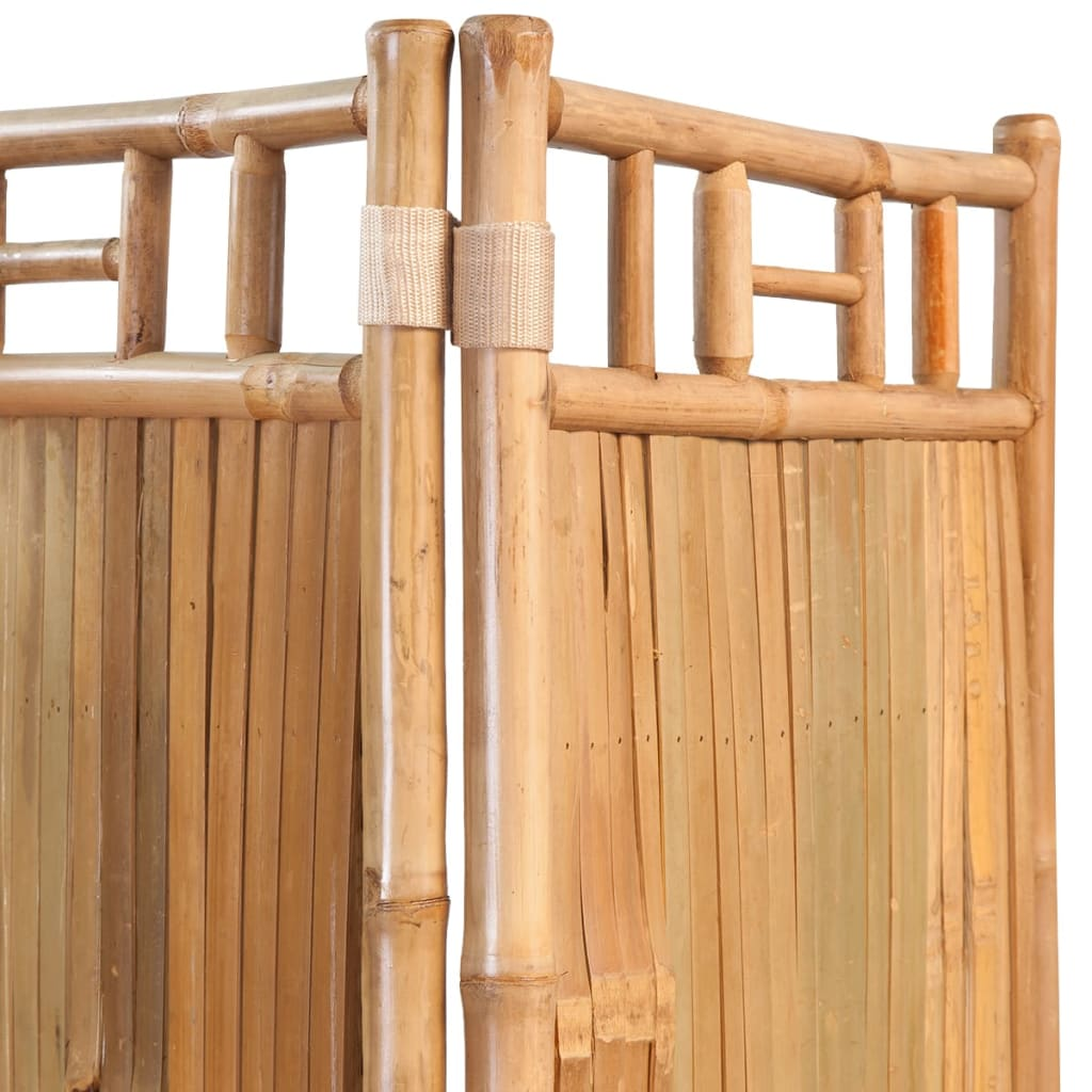 5-Panel Room Divider Bamboo 200×160 cm 4