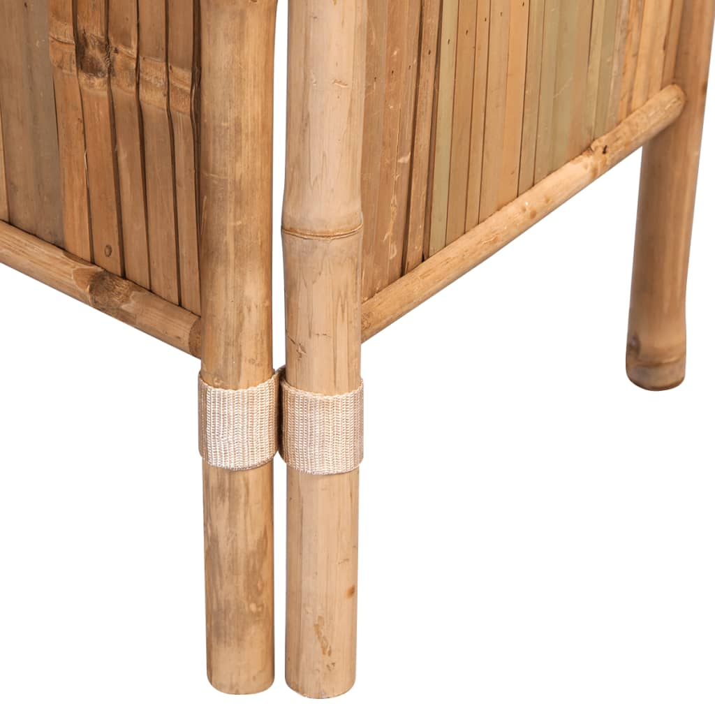 5-Panel Room Divider Bamboo 200×160 cm 5