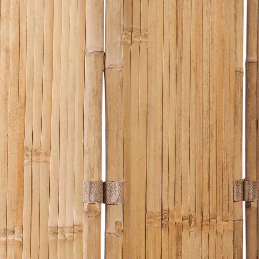 5-Panel Room Divider Bamboo 200×160 cm 6