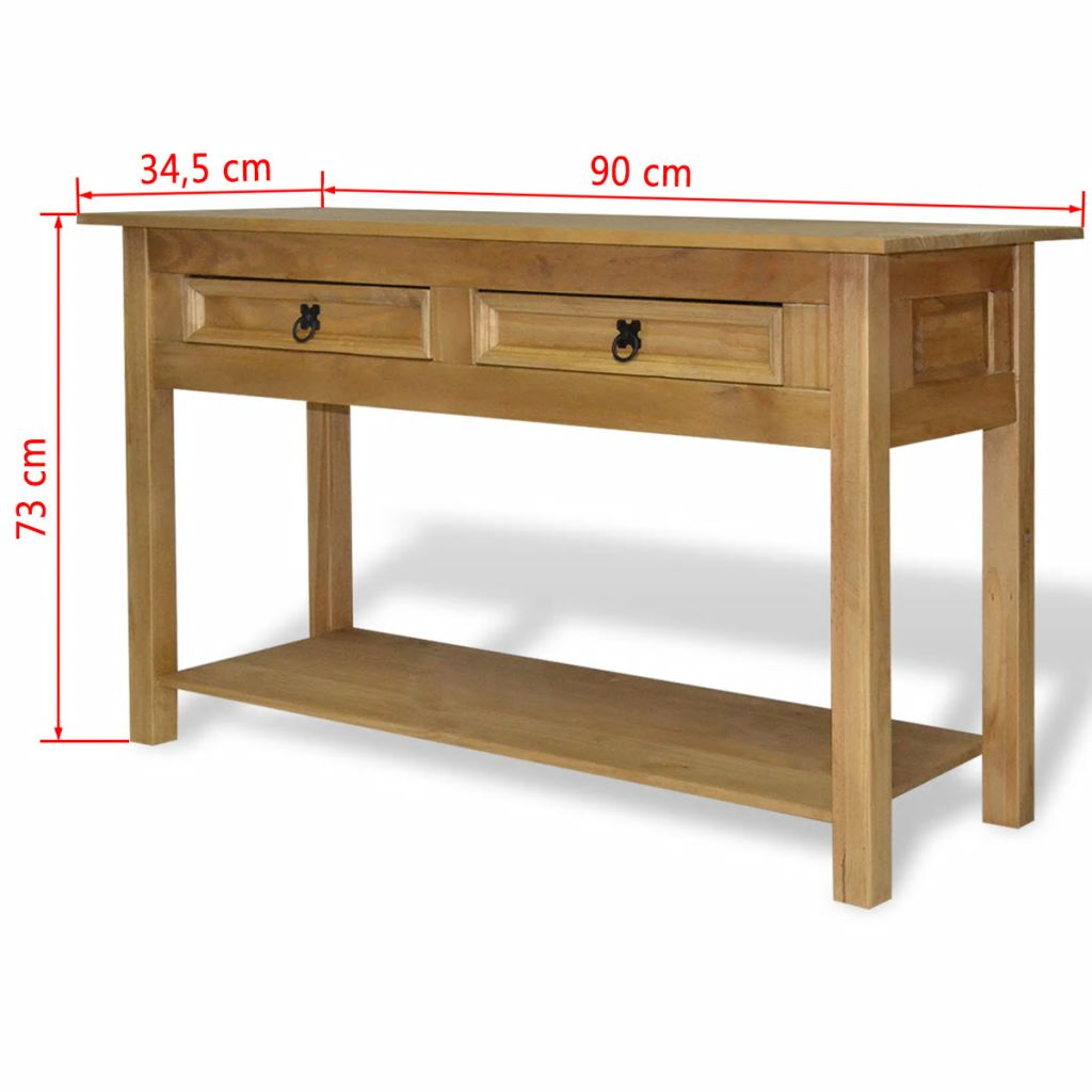 Console Table Mexican Pine Corona Range 90×34