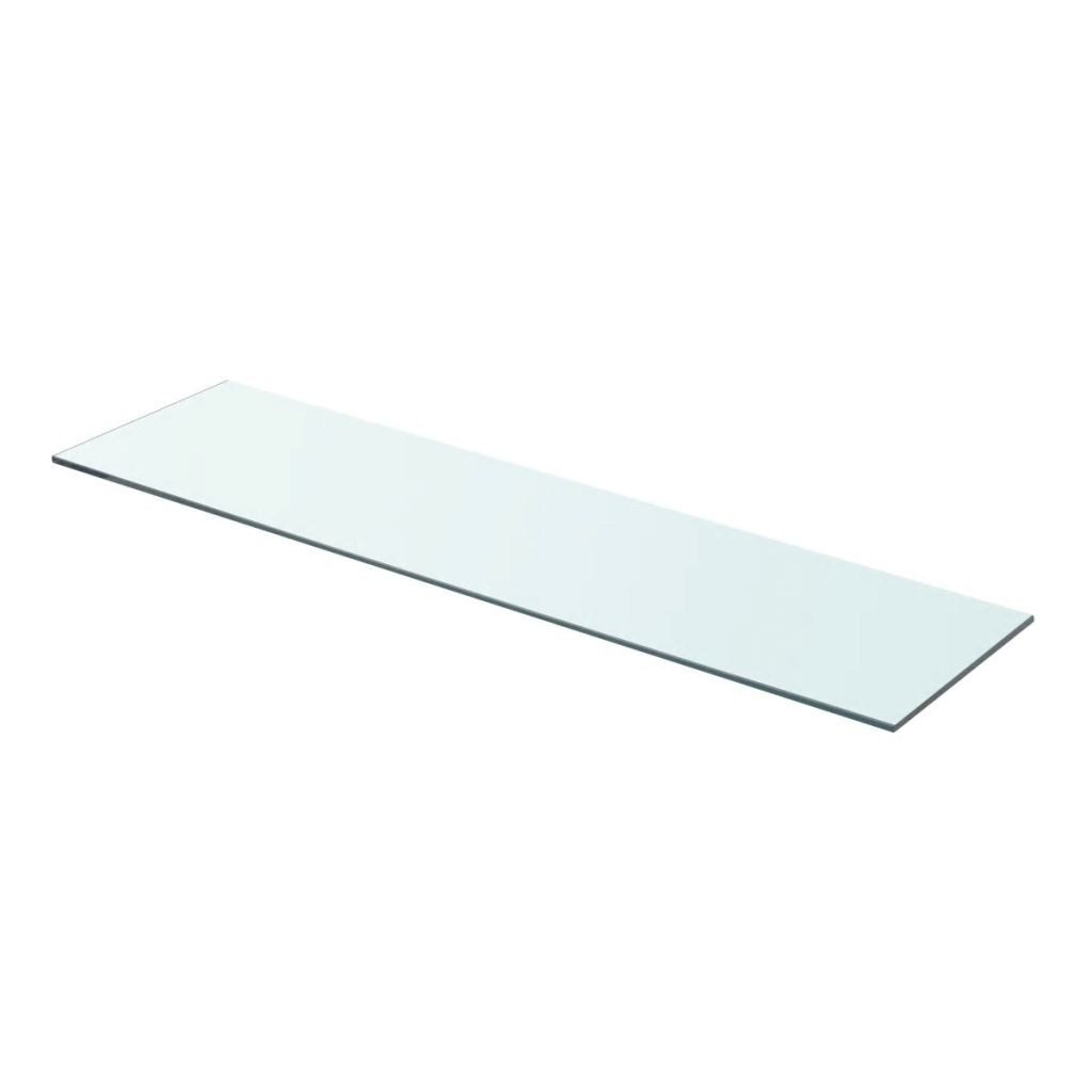 Shelf Panel Glass Clear 80×20 cm 1