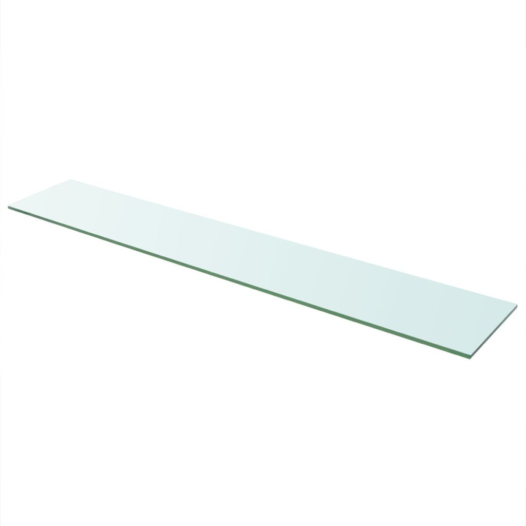 Shelf Panel Glass Clear 110×20 cm 1