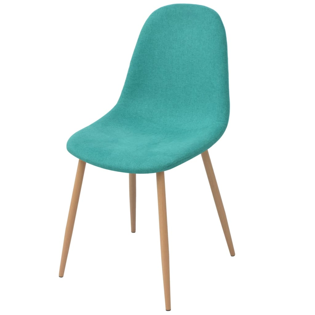 Dining Chairs 4 pcs Green Fabric 2