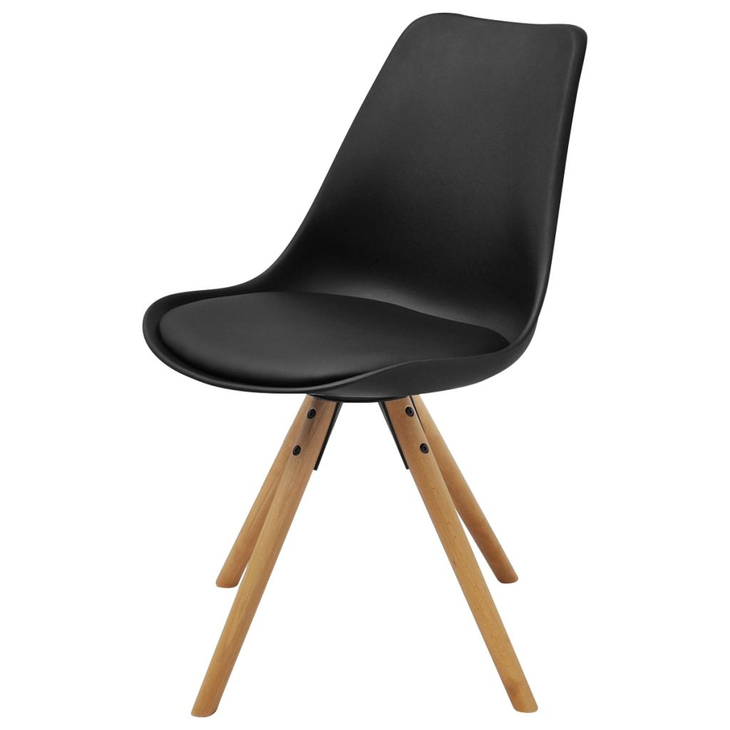 Dining Chairs 4 pcs Black Faux Leather 2