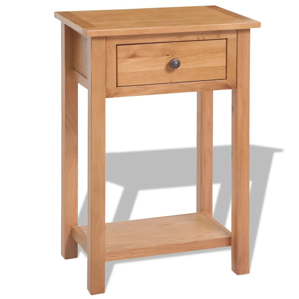 Console Table 50x32x75 cm Solid Oak Wood 1