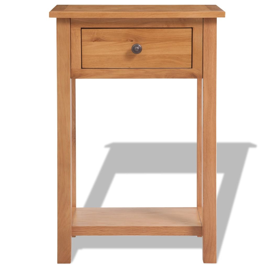 Console Table 50x32x75 cm Solid Oak Wood 2