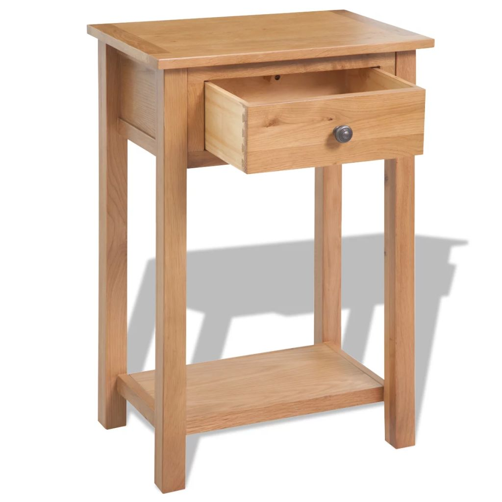 Console Table 50x32x75 cm Solid Oak Wood 4