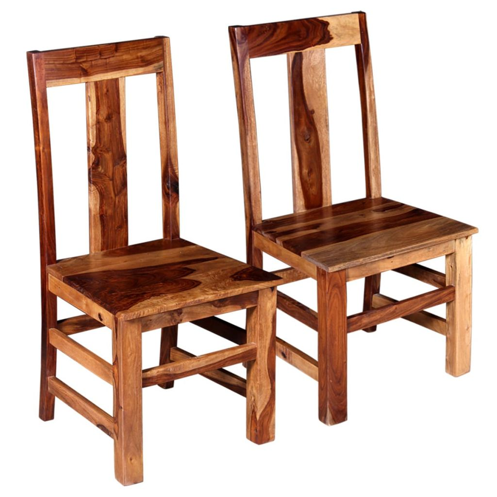 Dining Chairs 2 pcs Solid Sheesham Wood 1
