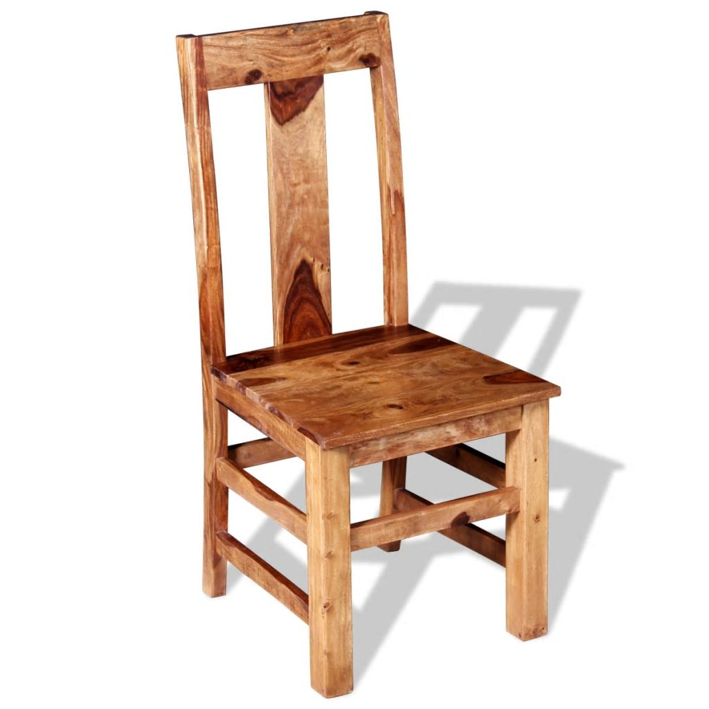 Dining Chairs 2 pcs Solid Sheesham Wood 2