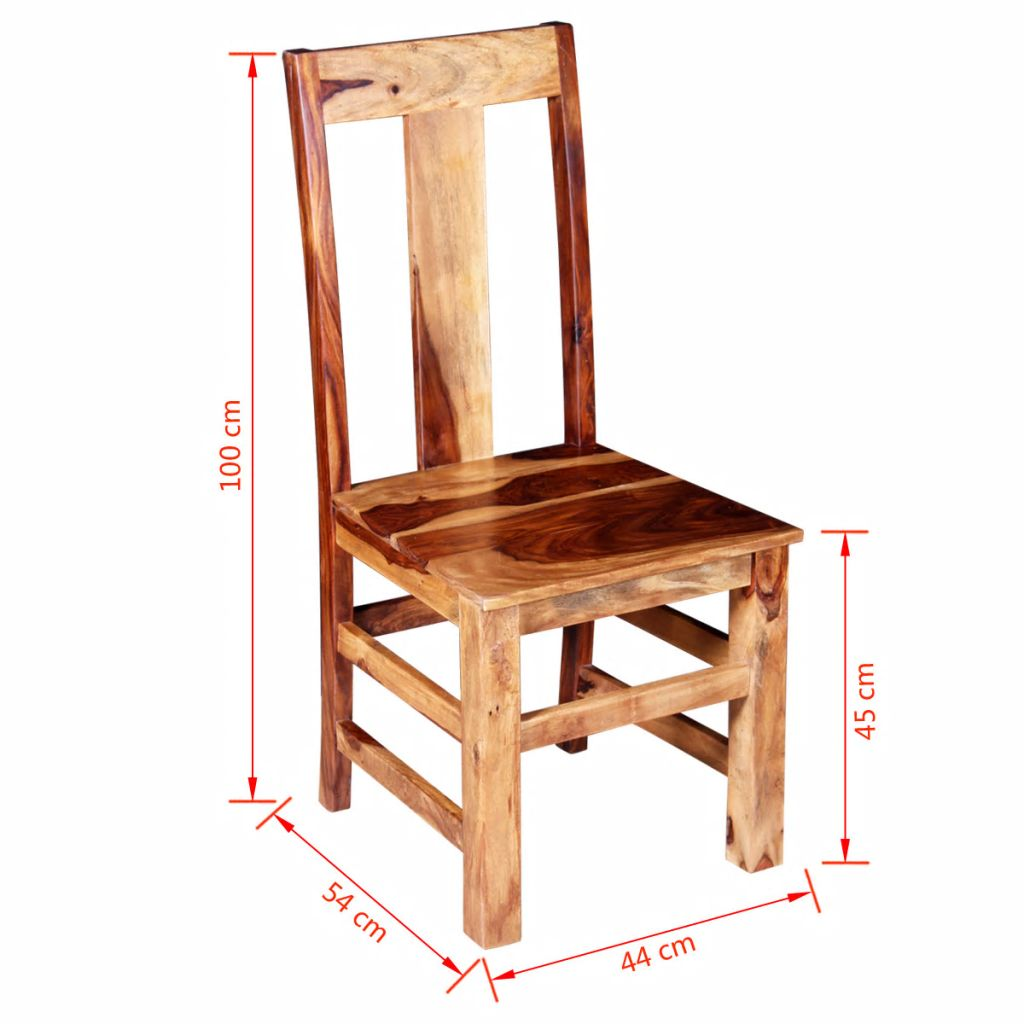 Dining Chairs 2 pcs Solid Sheesham Wood 11