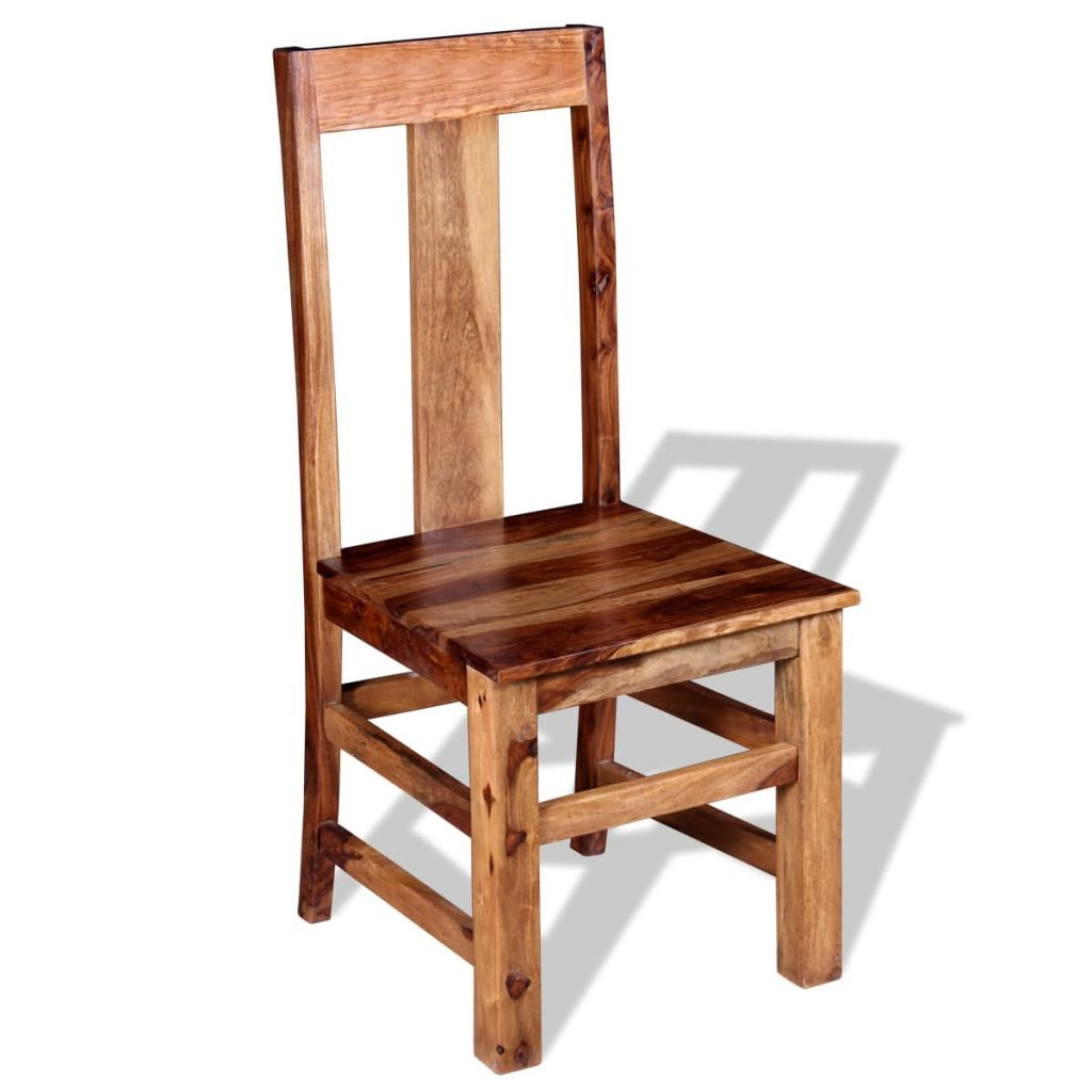Dining Chairs 2 pcs Solid Sheesham Wood 3