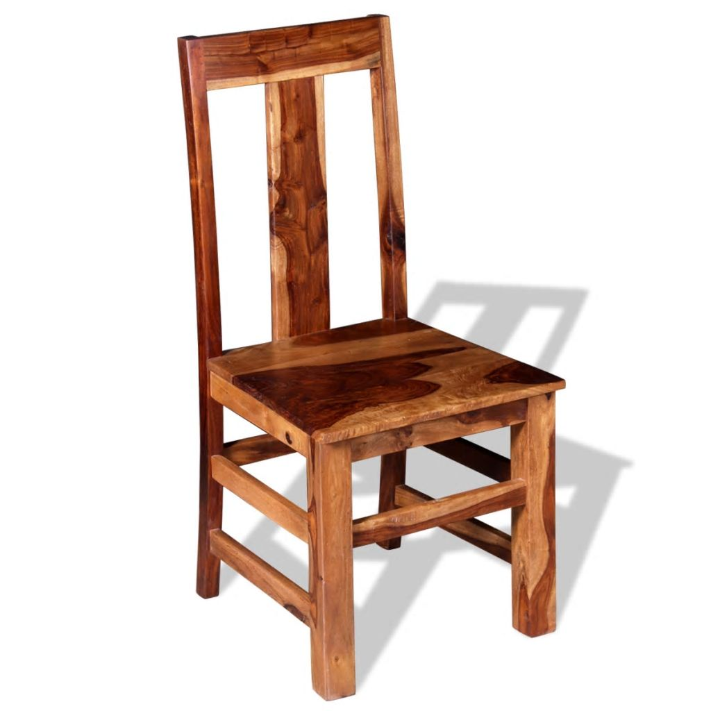 Dining Chairs 2 pcs Solid Sheesham Wood 5