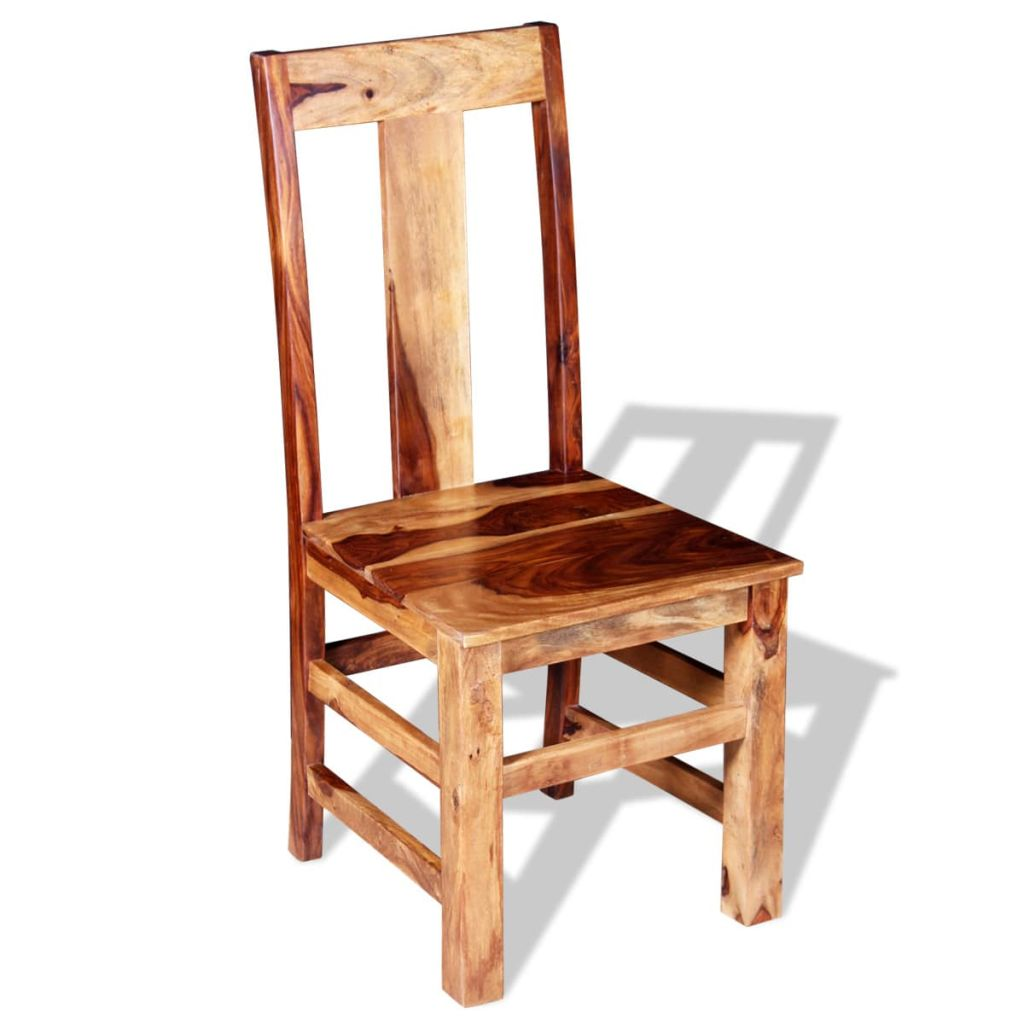 Dining Chairs 2 pcs Solid Sheesham Wood 6