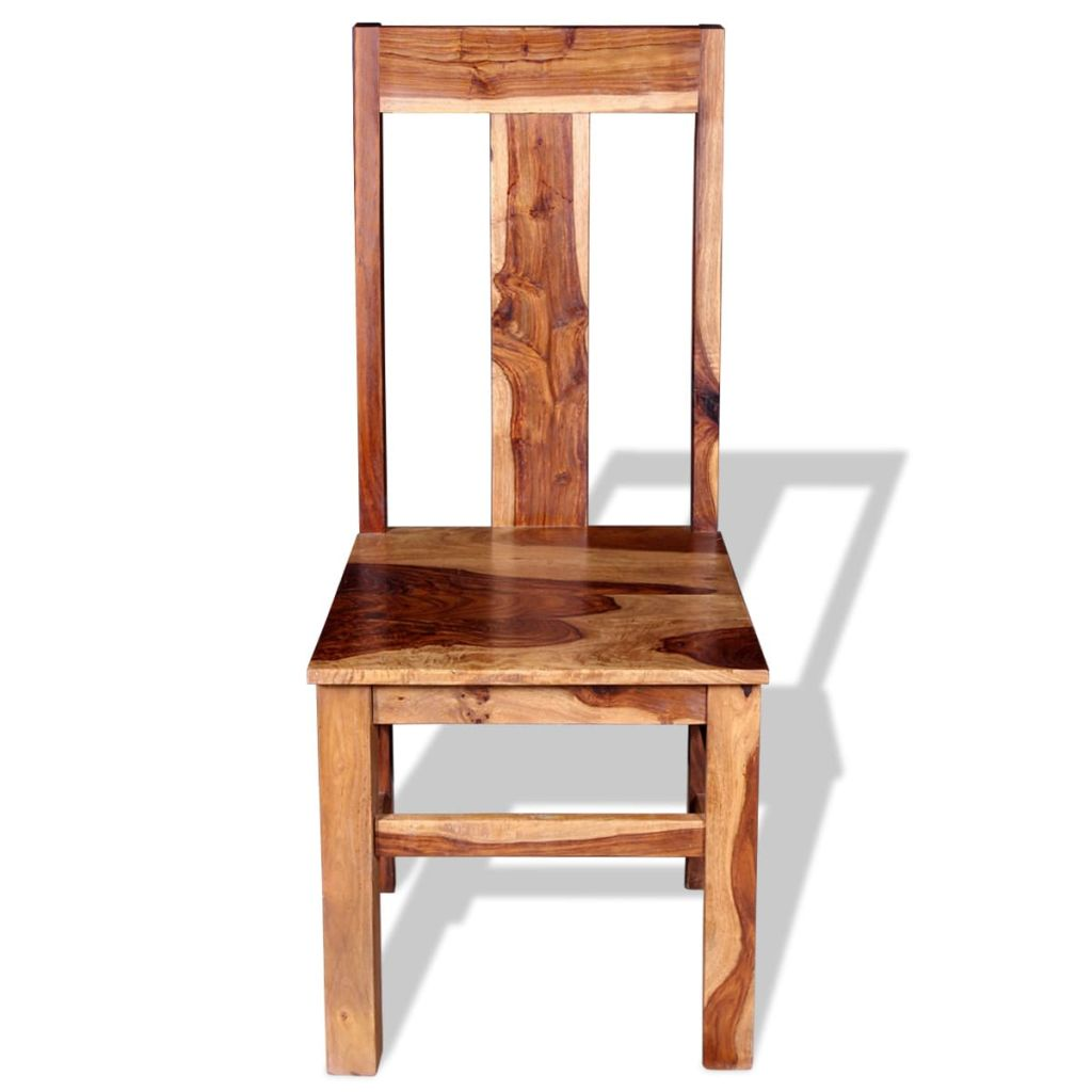 Dining Chairs 2 pcs Solid Sheesham Wood 7