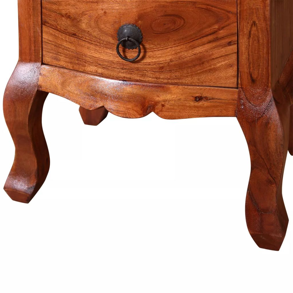 Nightstands with Drawers 2 pcs Solid Acacia Wood 9