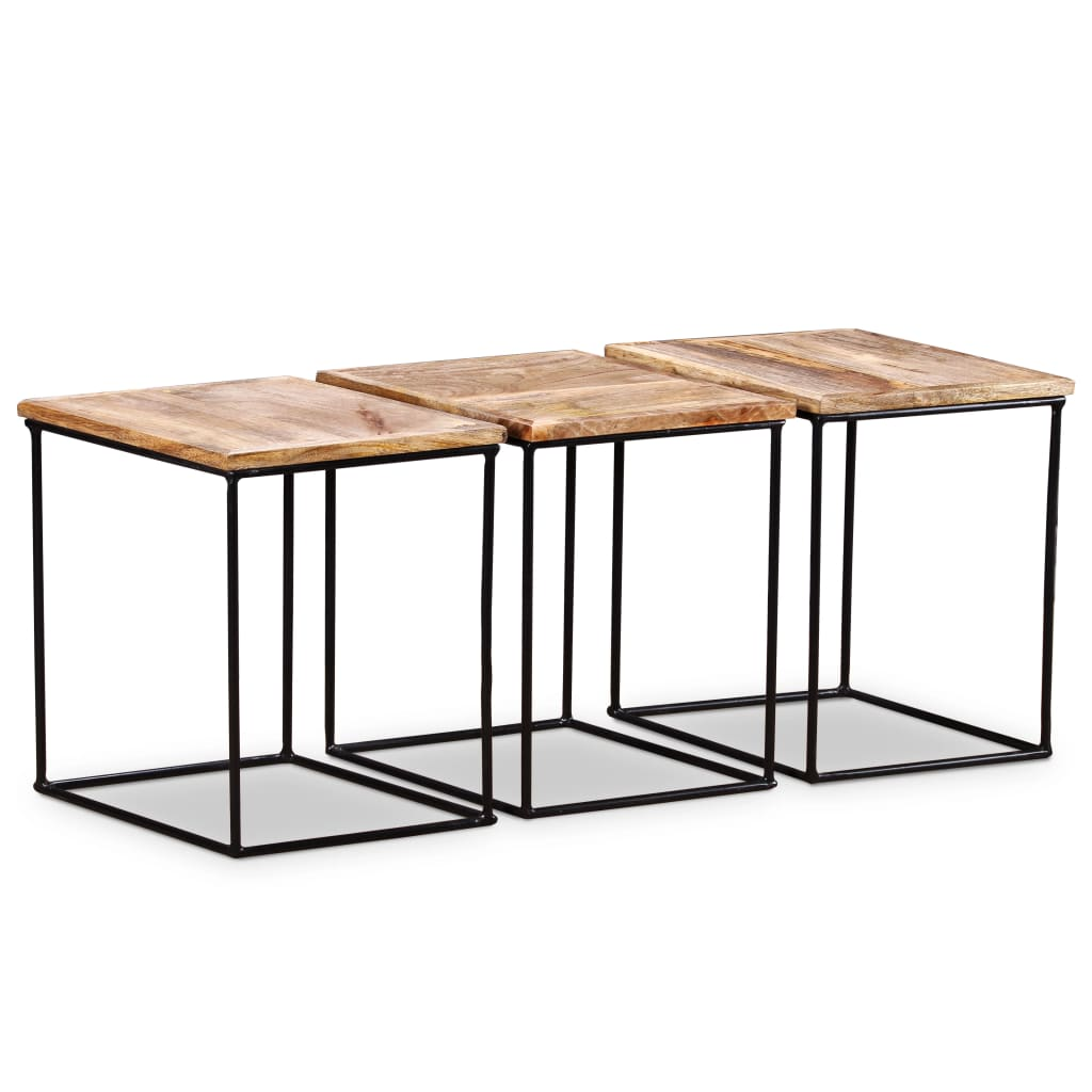 Coffee Table Solid Mango Wood 48x48x40 cm 7