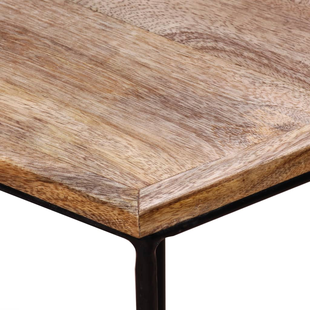 Coffee Table Solid Mango Wood 48x48x40 cm 9