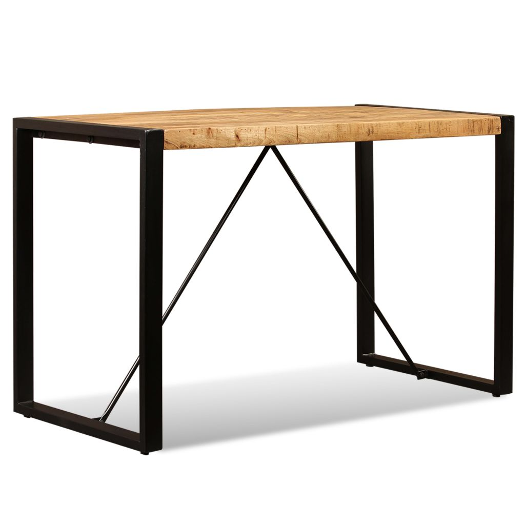 Dining Table Solid Rough Mango Wood 120 cm 1