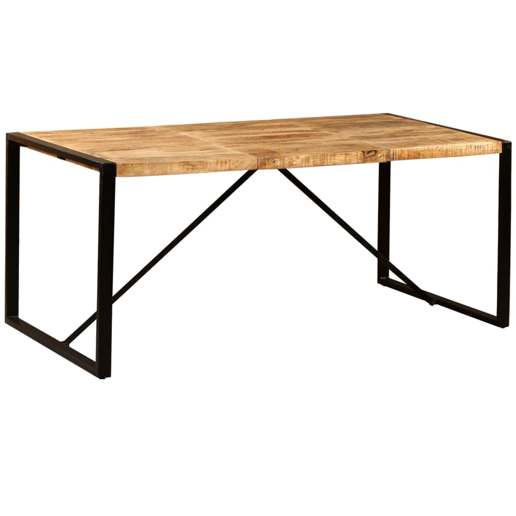 Dining Table Solid Rough Mango Wood 180 cm 1