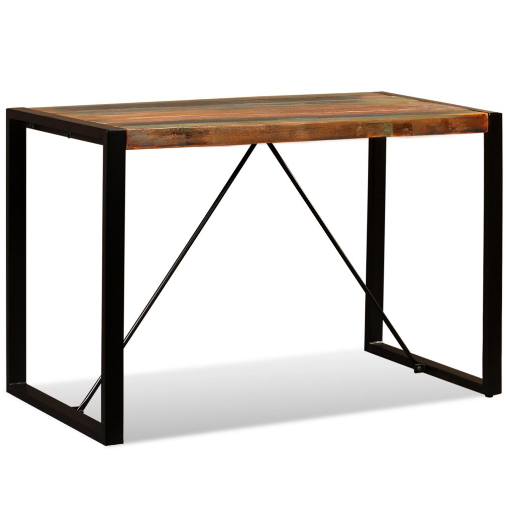 Dining Table Solid Reclaimed Wood 120 cm 1