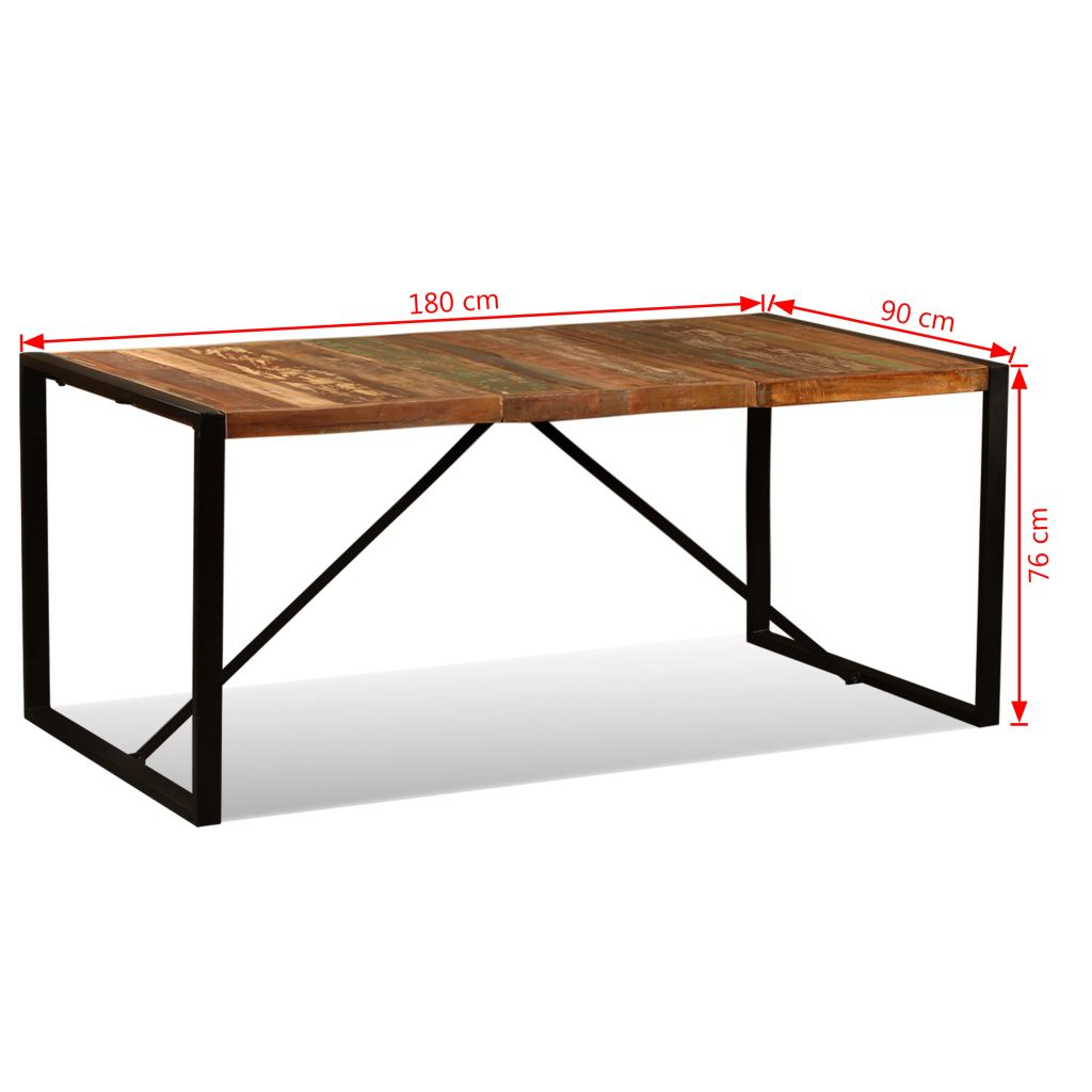 Dining Table Solid Reclaimed Wood 180 cm 11