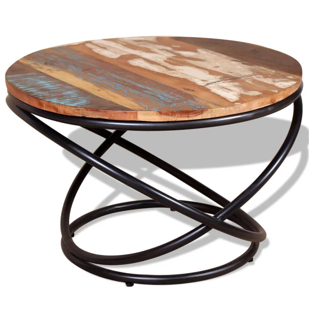 Coffee Table Solid Reclaimed Wood 60x60x40 cm 1