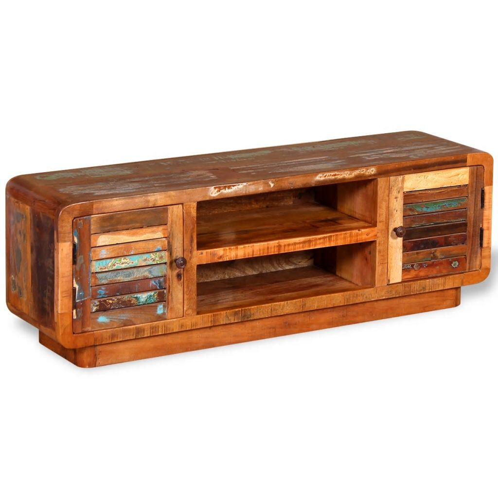 TV Cabinet Solid Reclaimed Wood 120x30x40 cm 2