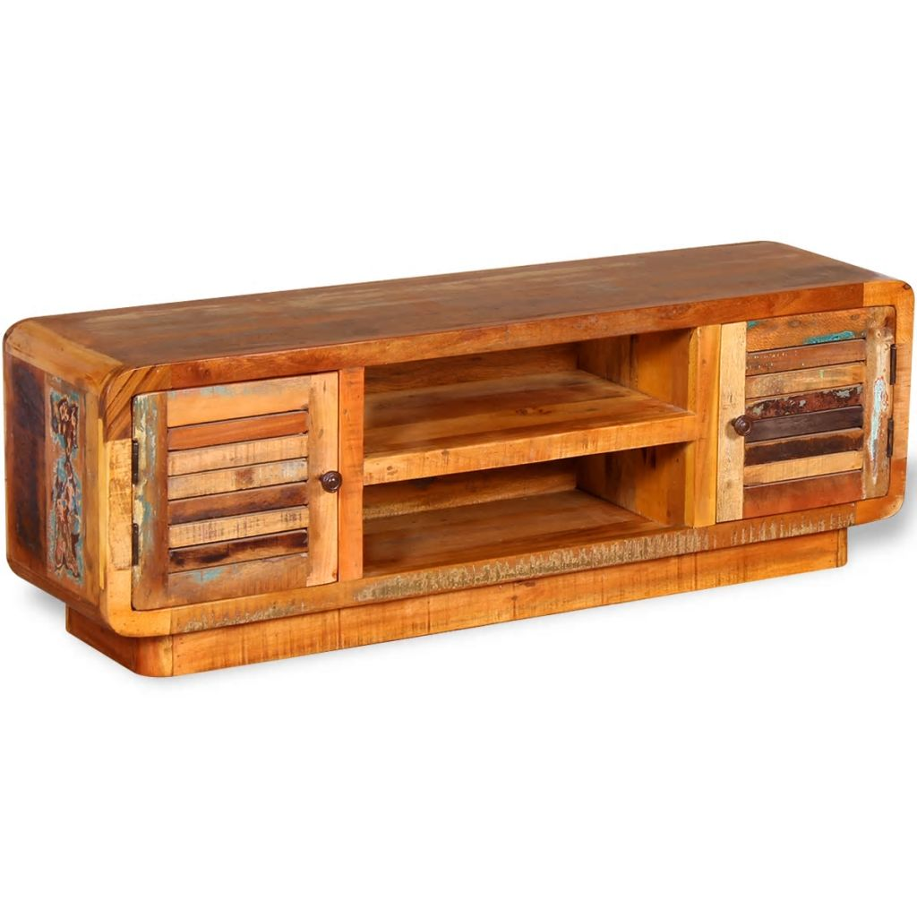 TV Cabinet Solid Reclaimed Wood 120x30x40 cm 3