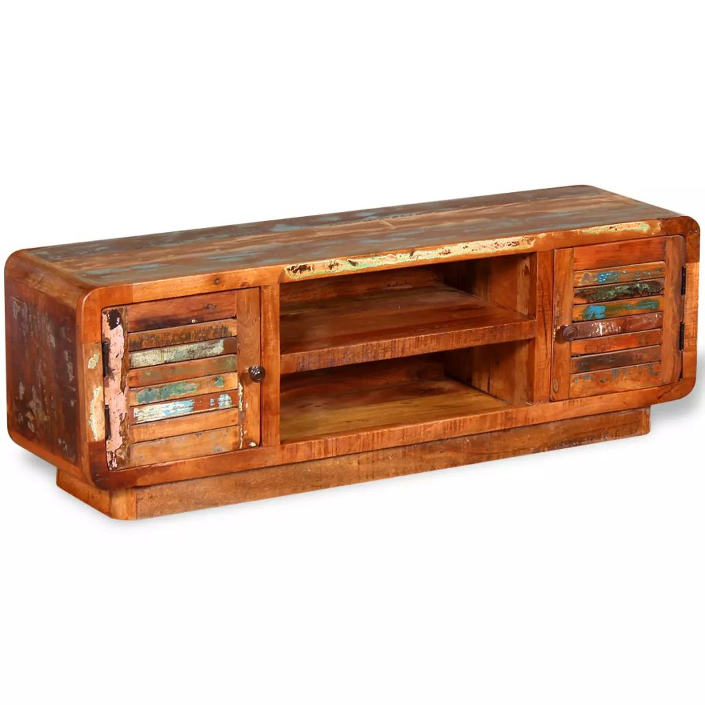 TV Cabinet Solid Reclaimed Wood 120x30x40 cm 4
