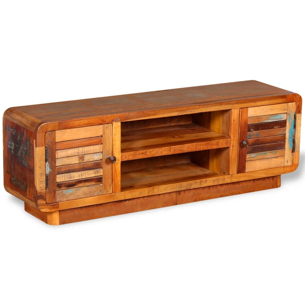 TV Cabinet Solid Reclaimed Wood 120x30x40 cm 5
