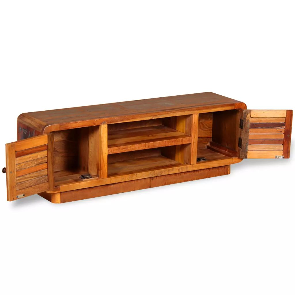 TV Cabinet Solid Reclaimed Wood 120x30x40 cm 6
