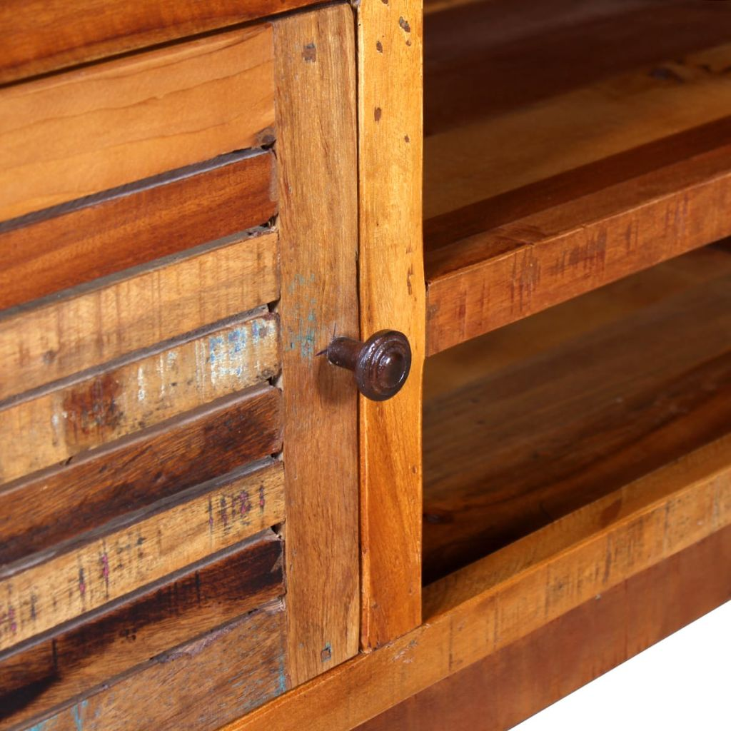 TV Cabinet Solid Reclaimed Wood 120x30x40 cm 8